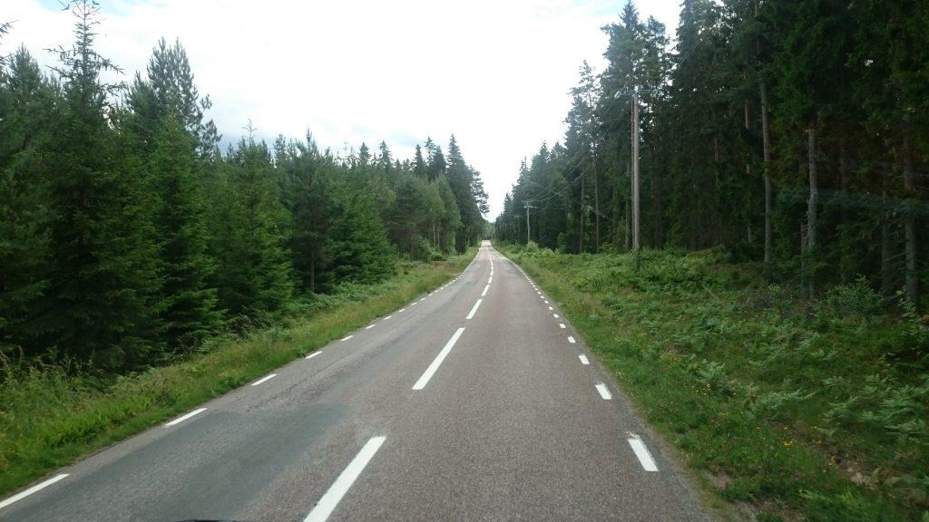 Bilväg i Småland
